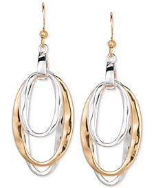 Two-Tone Triple-Oval Drop Earrings, Created for Macy's