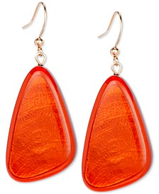 Resin Colored Triangular Statement Earrings, Created for Macy's