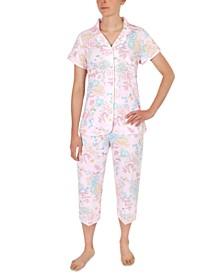 Floral-Printed Capri Pajama Set