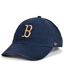 Women's Boston Red Sox Metallic Clean Up Cap