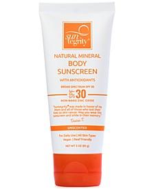 Broad Spectrum SPF 30 Natural Mineral Body Sunscreen, 3 oz
