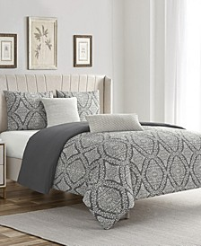 Zoey Cotton Chenille Full/Queen 5 Piece Comforter Set