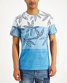 Men's Floral-Print Colorblocked T-Shirt, Created for Macy's
