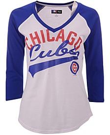 G-III Sports Women's Chicago Cubs Its A Game Raglan T-Shirt