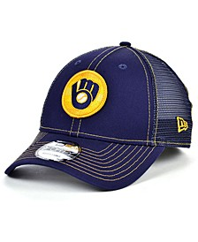 Milwaukee Brewers Logo Fill Trucker 9FORTY Cap