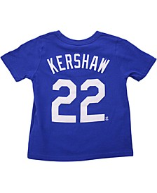 Toddler Los Angeles Dodgers Name and Number Player T-Shirt Clayton Kershaw