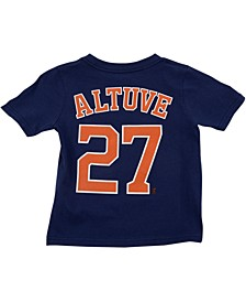 Toddler Houston Astros Name and Number Player T-Shirt Jose Altuve