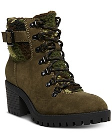 Hayess Faux-Fur Lug Sole Hiker Booties
