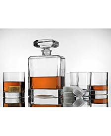 Decanter Set with Decanter, 4 Classic DOF Glasses, and 4 Stones