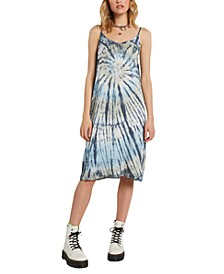 Juniors' Dyed Dreams Tie-Dyed Slip Dress