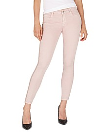 Mid-Rise Side-Stripe Skinny Ankle Jeans