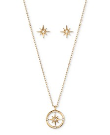 2-Pc. Set Crystal Star Pendant Necklace & Matching Stud Earrings in Gold-Flash, Created for Macy's