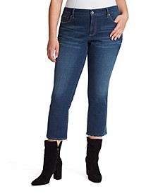 Trendy Plus Size Arrow Ankle Jeans
