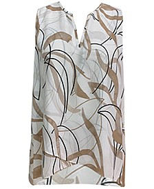 Printed Crossover Sleeveless Top, Created for Macy's