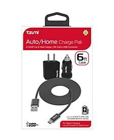 Micro-USB Cable 6' Auto Home Combo