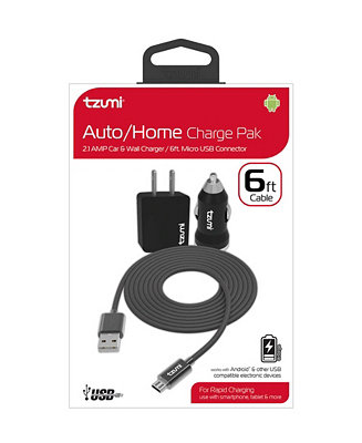 Tzumi Micro USB Cable 6' Auto Home Combo & Reviews Home Macy's