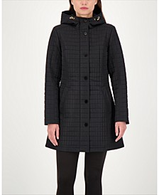 Hooded Water-Resistant Quilted Coat