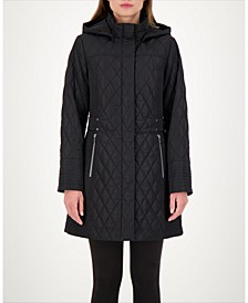 Hooded Quilted Water-Resistant Coat
