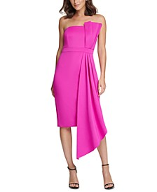 Bow-Front Strapless Sheath Dress
