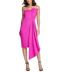 Petite Bow-Front Strapless Sheath Dress