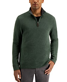 Men's Birdseye Quarter-Zip Sweater, Created for Macy's