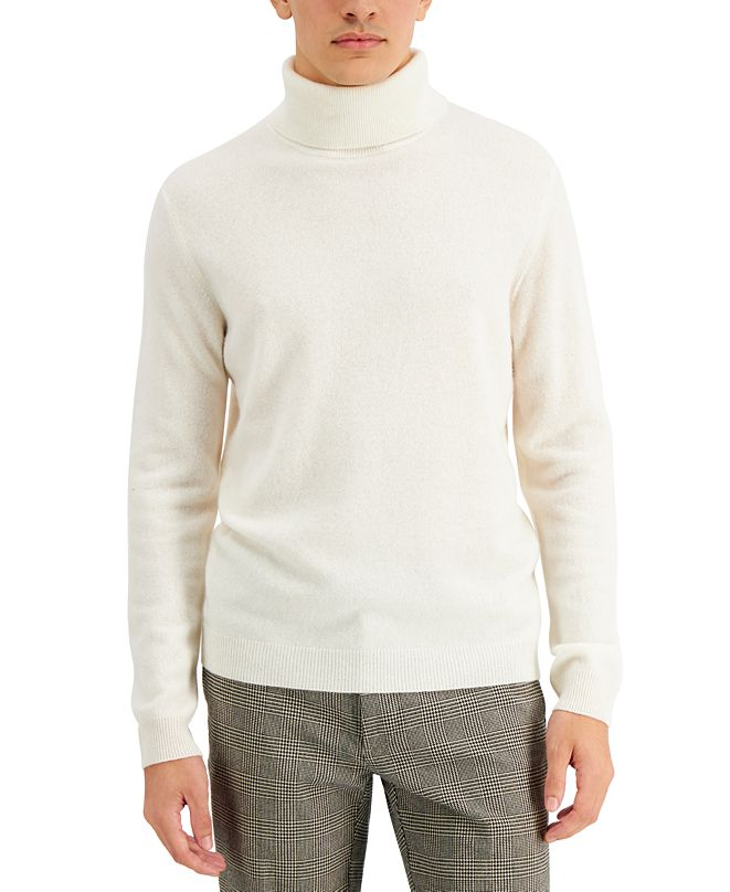 Tasso Elba Men's Cashmere Turtleneck Sweater, Created for Macy's