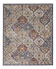 "Taza Panel TAZ03 Blue 7'10"" x 9'10"" Area Rug"