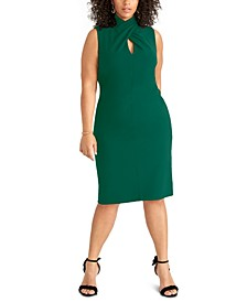 Trendy Plus Size Twisted Sheath Dress