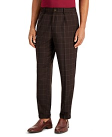 Men's Box-Checked Pants, Created for Macy's