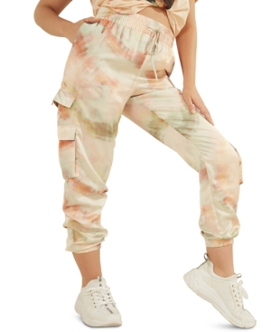 Guess ANNKA CHARM TIE-DYED CARGO JOGGER PANTS
