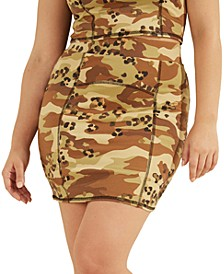 Skye Camo-Print Mini Skirt