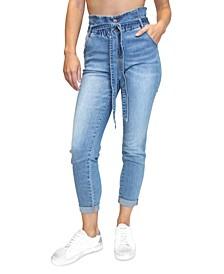 Juniors' Paperbag-Waist Jeans