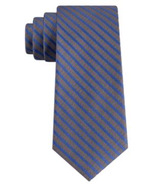 Calvin Klein Men's Solid Stripe Skinny Tie