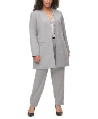 Plus Size Slim Ankle-Length Pants