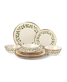 Holiday 12-Piece Plate & Bowl Set