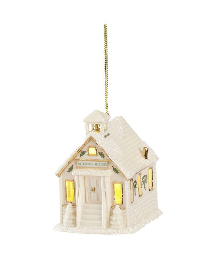 Lenox - Christmas Village Schoolhouse Lighted Ornament
