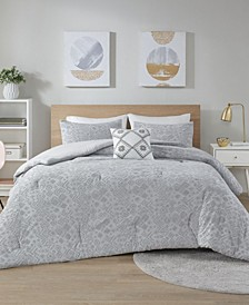 Lane 4 Piece Jersey Full/Queen Comforter Set