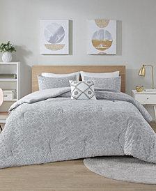 Intelligent Design Lane 4 Piece Jersey Full/Queen Comforter Set