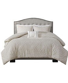 Florence 4 Piece Cotton Full/Queen Comforter Set