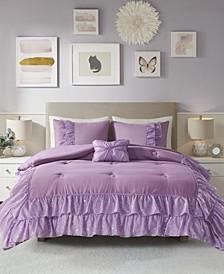 Lexi 4 Piece Full/Queen Comforter Set