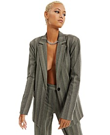 Herringbone Striped Blazer, Created for Macy's