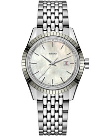 Women's Swiss HyperChrome Classic Stainless Steel Bracelet Watch 35mm Gift Set