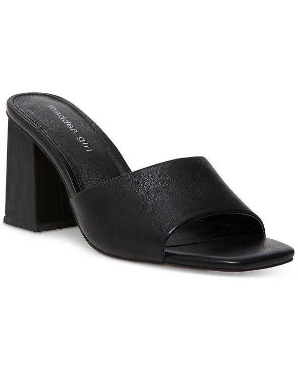 Madden Girl Goldenn Block-Heel Mules