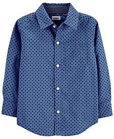 Toddler Boy Poplin Button-Front Shirt