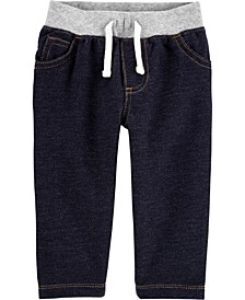 Baby Boy Pull-On Knit Denim Pants