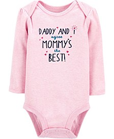 Baby Girl Mommy And Daddy Are The Best Bodysuit