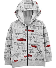 Toddler Boy Zip-Up Fleece Hoodie
