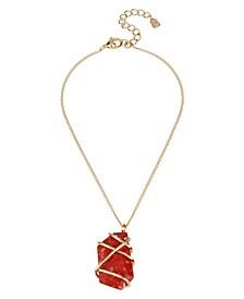 Caged Jasper Stone Pendant Necklace