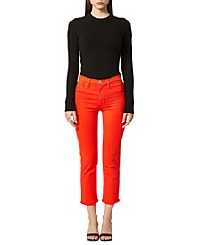 Barbara Cropped High-Rise Jeans