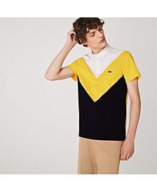 Men's Regular-Fit  Performance Pique Colorblocked Polo